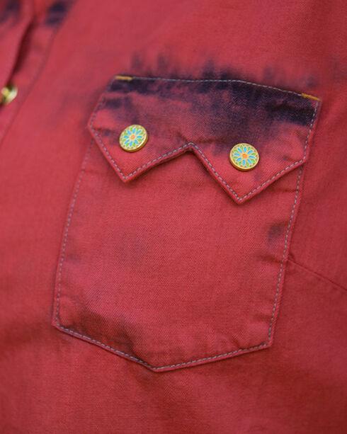 Ryan Michael Women's Red Tinted Indigo Dress, Red, hi-res