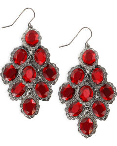Shyanne® Women's Red Chandelier Earrings , Red, hi-res