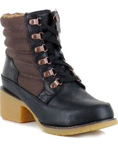 Durango Women's Cabin Lacer Boots - Round Toe , Black, hi-res