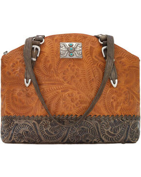 American West Women's Annie's Concealed Carry Half Moon Tote , Tan, hi-res
