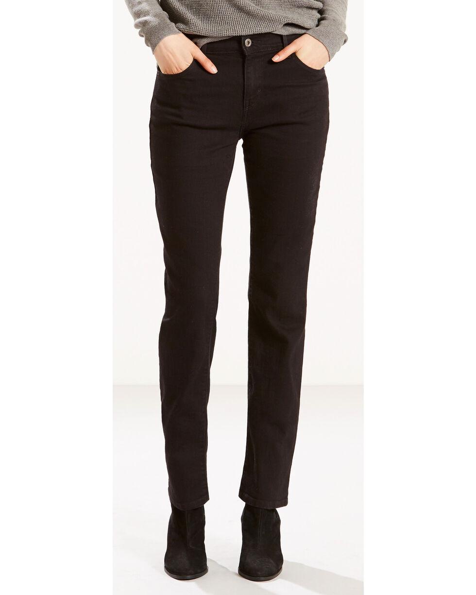 Levi's Women's 505 Straight Leg Jeans, Black, hi-res