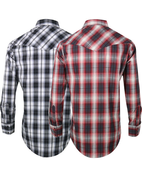 Ely Cattleman Men's Assorted Premium Plaid Long Sleeve Shirt, Multi, hi-res