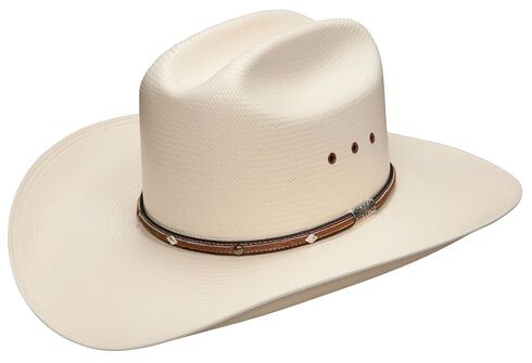 Stetson Angus 10X Shantung Straw Cowboy Hat, Natural, hi-res