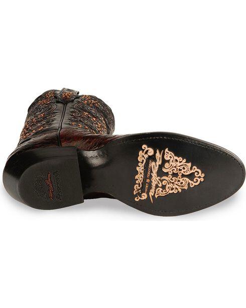 Tony Lama Signature Series Caiman Western Boots - Medium Toe, Black Cherry, hi-res