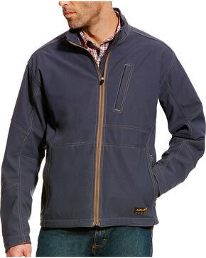 Ariat Men's Rebar Canvas Softshell Jacket , Grey, hi-res