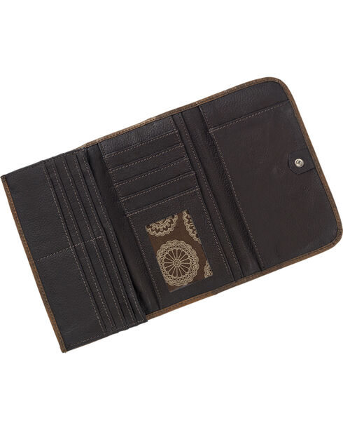 American West Womens Kachina Spirit Tri-Fold Wallet, , hi-res