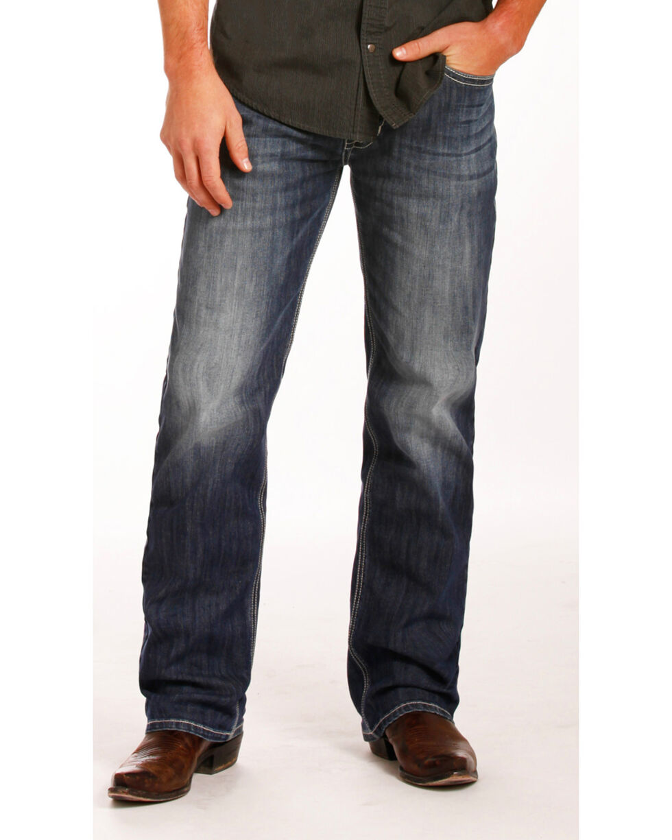 Rock & Roll Cowboy Men's Reflex Double Barrel Straight Leg Jeans, Indigo, hi-res