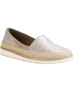 Ariat Women's Silver Cruiser Espadrille Sparklin' Shoes , Silver, hi-res
