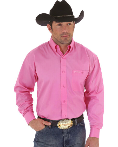 "Wrangler ""Tough Enough To Wear Pink"" Western Shirt, Pink, hi-res"