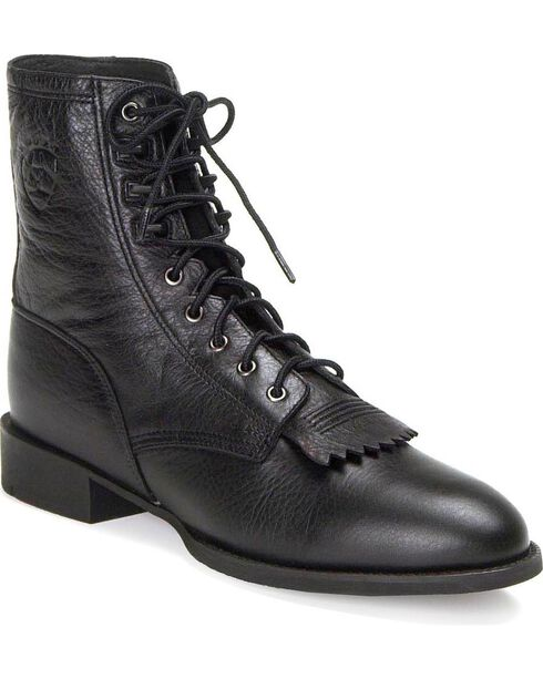 Ariat Heritage Lacer Cowboy Boots, Black, hi-res