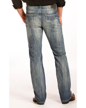 Rock & Roll Cowboy Men's Revolver Jeans - Straight Leg , Blue, hi-res