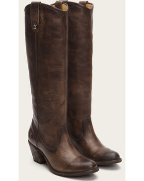 Frye Women's Slate Jackie Button Tall Boots - Round Toe , Grey, hi-res