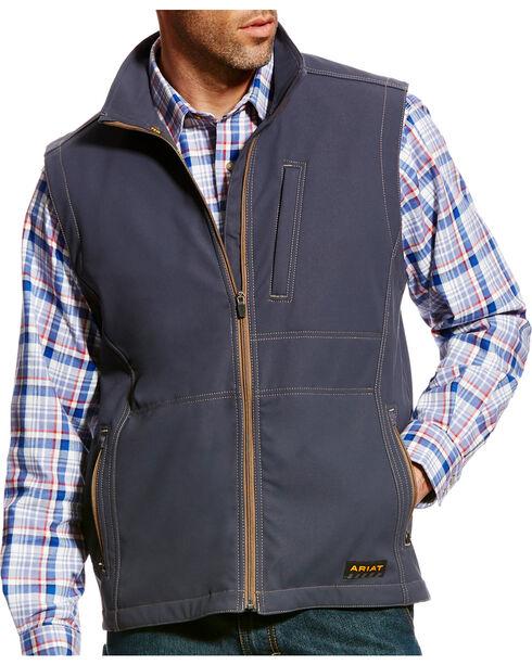 Ariat Men's Rebar Canvas Softshell Vest - Big, , hi-res