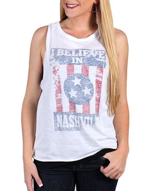 Z Supply Women's Believe in Nashville Tank, White, hi-res