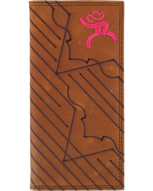 HOOey Men's Roughy Rodeo Embroidered Wallet, Brown, hi-res