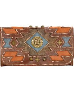 American West Zuni Passage Tri-Fold Wallet, Chestnut, hi-res