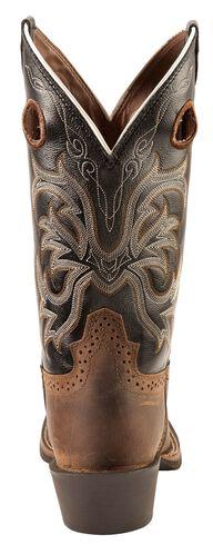 Justin Men S Punchy Stampede Black Cowboy Boots Square