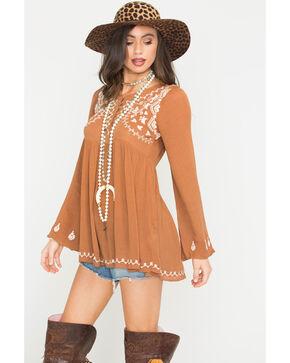 Sage the Label Women's Camel Wildfire Blouse , Camel, hi-res