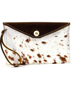 SouthLife Supply Women's Paxton Cowhide Envelope Clutch, Multi, hi-res