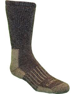 Carhartt Brown Full-Cushion Recycled Wool Crew Socks, , hi-res