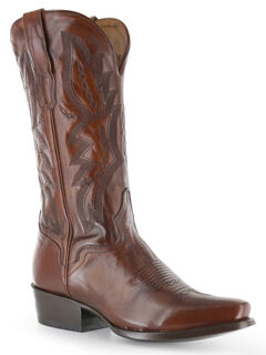El Dorado Antique Calf Cowboy Boots - Square Toe, Tan, hi-res