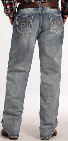 Tuf Cooper Performance by Rock & Roll Denim Competition Fit Light Wash Jeans - Straight Leg , Denim, hi-res