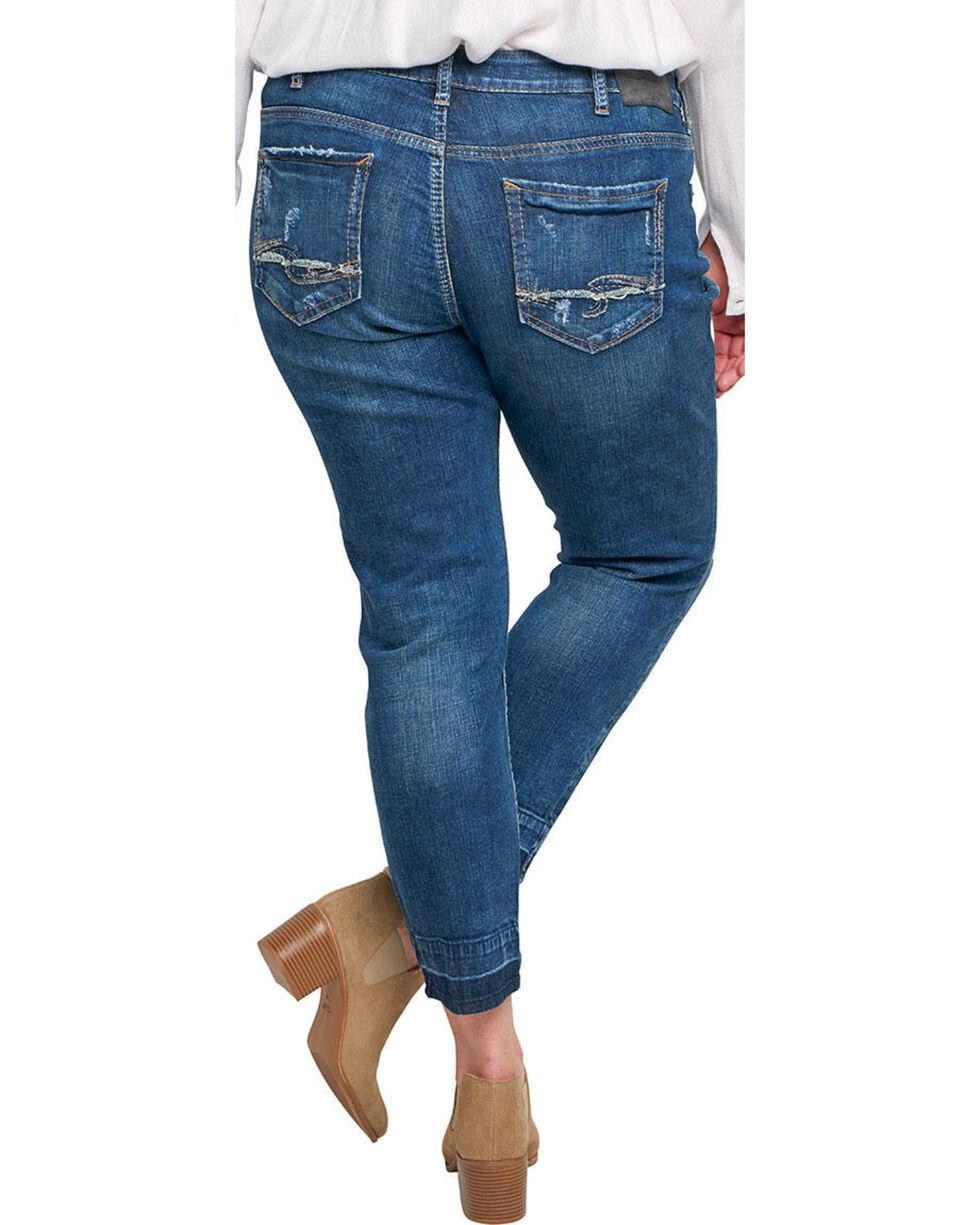 Silver Women's Sam Dark Wash Boyfriend Jeans - Plus, Indigo, hi-res