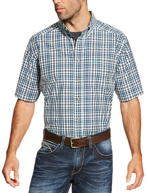 Ariat Men's Navy Izzy Shirt Short Sleeve Shirt - Big and Tall, Navy, hi-res