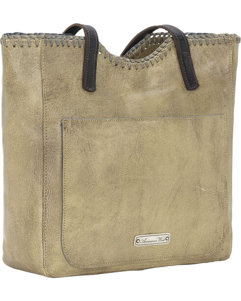 American West Women's Kachina Spirit Large Zip Top Tote, Sand, hi-res