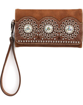 Blazin Roxx Rhianna Clutch, Brown, hi-res