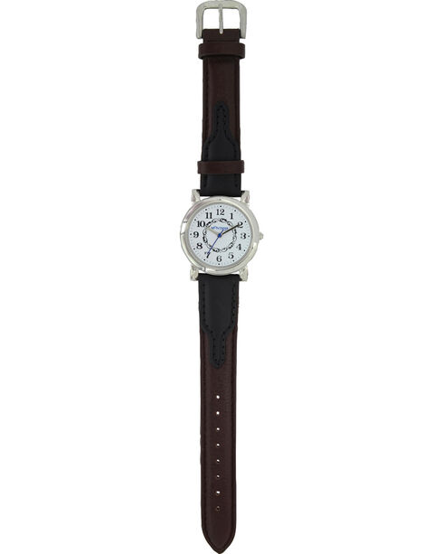 Montana Silversmiths Women's Silver Smooth Leather Watch , Silver, hi-res