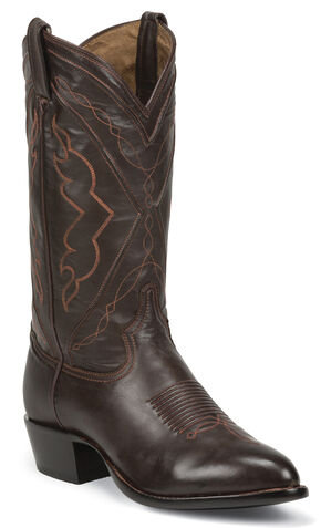Tony Lama Men's Ranch Jersey El Paso Cowboy Boots - Medium Toe, Chocolate, hi-res