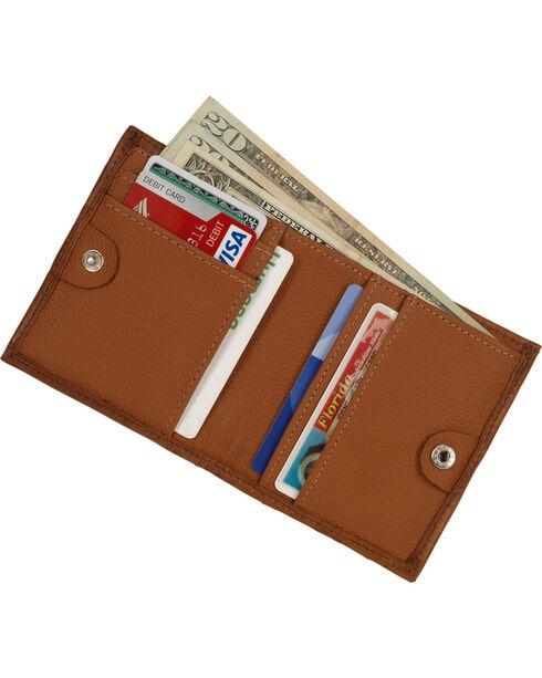 American West Boyfriend Ladies Bi-Fold Wallet, Golden Tan, hi-res