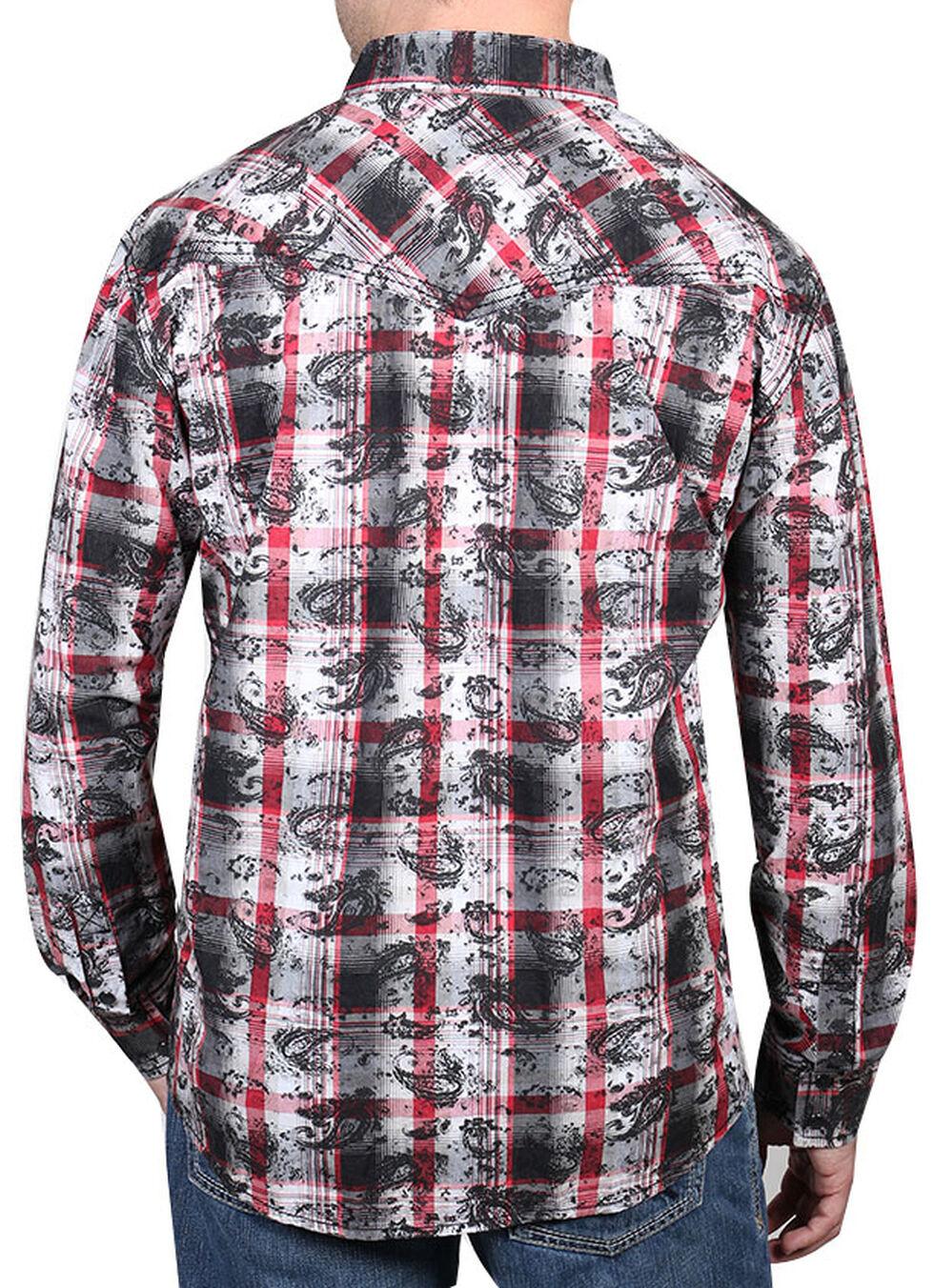 Moonshine Spirit Men's Spanish Trail Paisley Long Sleeve Shirt, Black, hi-res