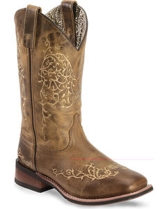 Laredo Ivy Cowgirl Boots - Square Toe, , hi-res