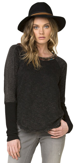 Miss Me Women's Black World Traveler Sweater, Black, hi-res