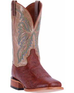 Dan Post Men's Cognac Smooth Ostrich Callahan Boots - Square Toe , Cognac, hi-res