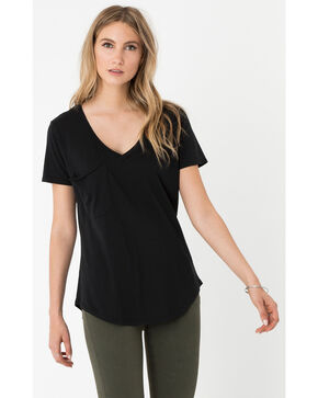 Z Supply Women's Black Micro Modal Pocket Tee, Black, hi-res