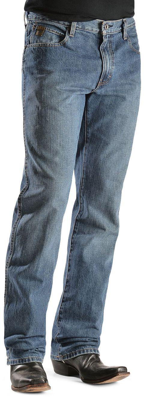 Ariat Denim Jeans - Heritage Medium Stonewash Relaxed Fit, Med Stone, hi-res