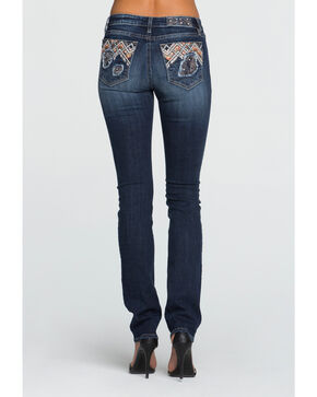 Miss Me Women's Blue Don't Blow It Mid-Rise Jeans - Straight Leg , Blue, hi-res