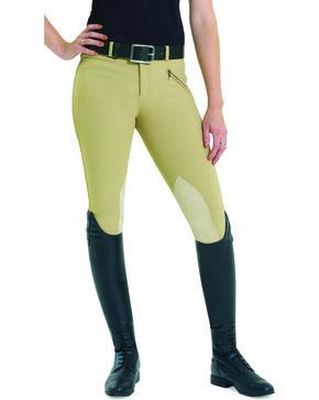 EquiStar Women's EquiTuff Knee Patch Breeches, Tan, hi-res