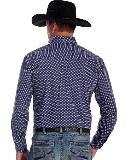 Wrangler Men's Blue Spot 20X Advanced Comfort Competition Shirt - Tall , Blue, hi-res