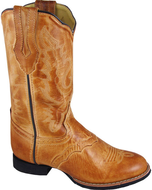 Smoky Mountain Showdown Cowgirl Boots - Round Toe, Tan, hi-res