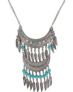 Shyanne Women's Double Fringe Necklace, Silver, hi-res