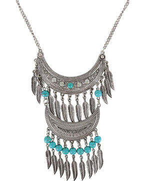 Shyanne Women's Double Fringe Necklace, Silver, hi-res