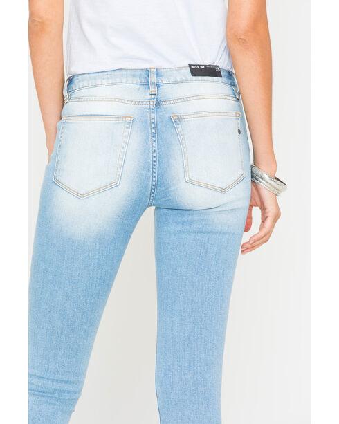 Miss Me Women's Indigo Star Camo Ankle Jeans - Skinny Leg , Indigo, hi-res