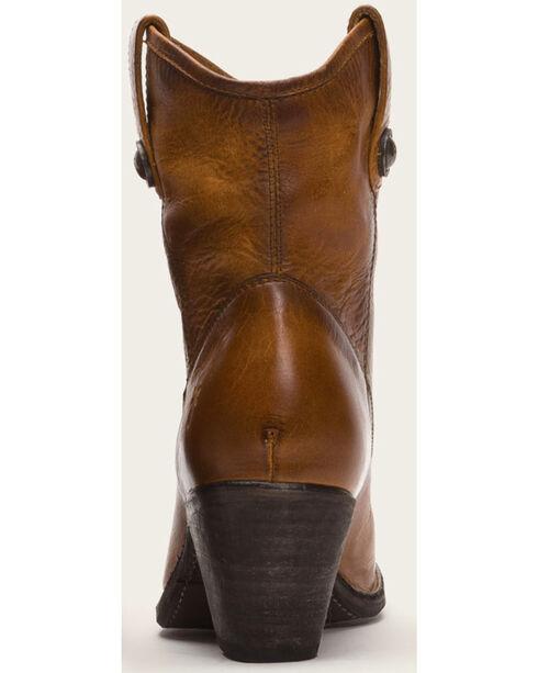 Frye Women's Cognac Jackie Button Short Boots - Medium Toe , Cognac, hi-res