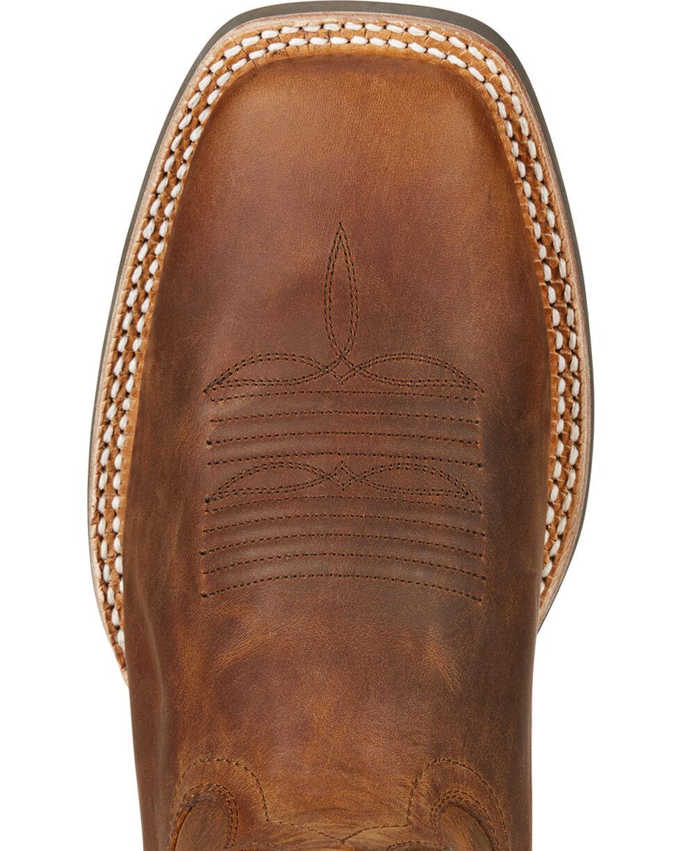 Ariat Men's Top Hand Performance Cowboy Boots - Square Toe, Tan, hi-res