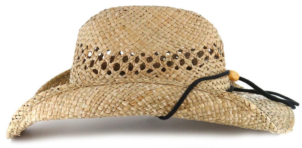 Cody James Men's Longhorn Concho Straw Cowboy Hat, , hi-res