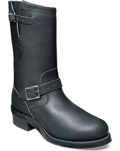 Chippewa Men's Odessa Black Engineer Boots - Steel Toe, , hi-res